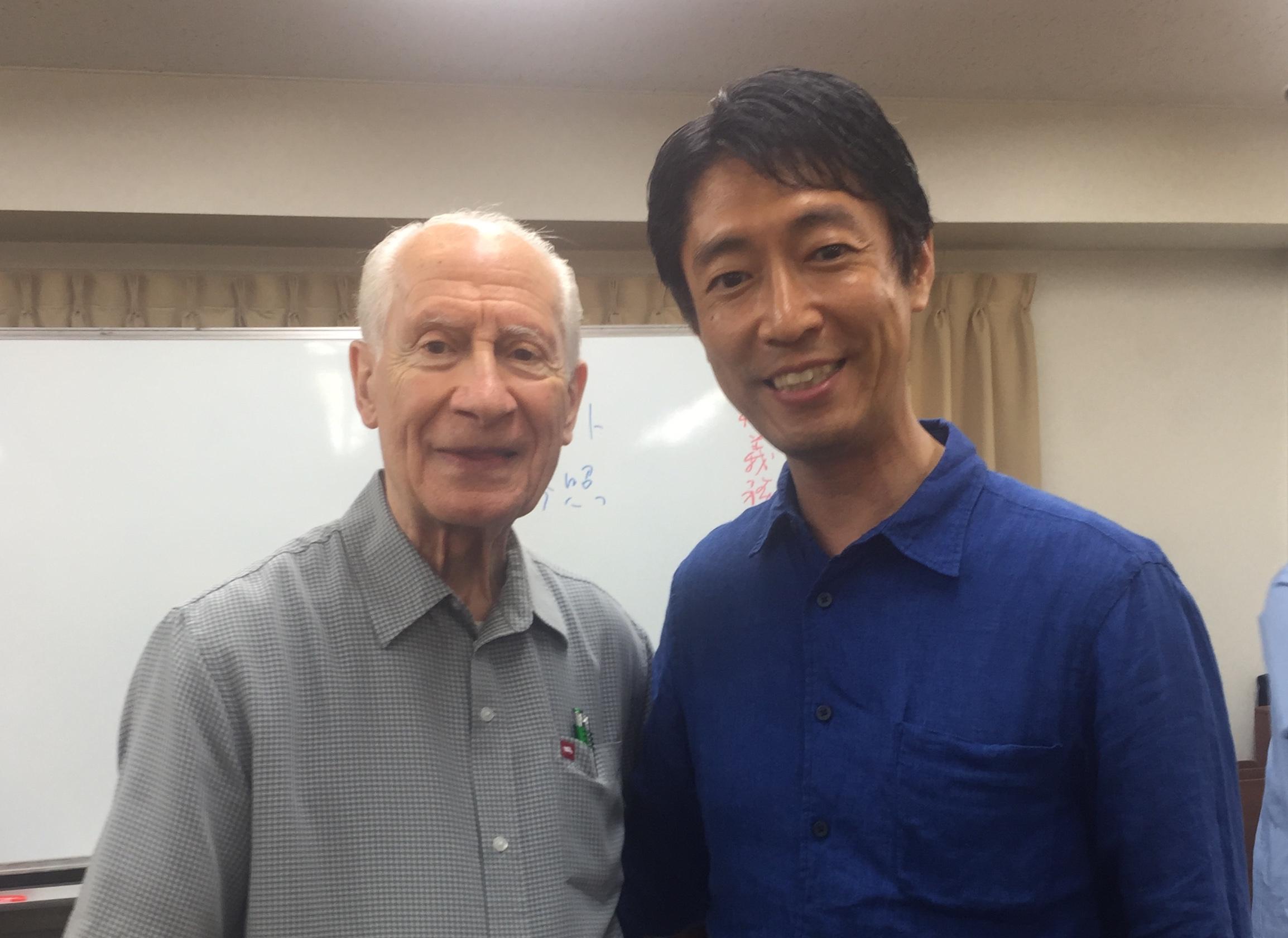 今年も日本にお越しになりました。ジョセフ・ペルグリーノ博士!「自尊心(Self-Esteem)を高めるワークショップ」